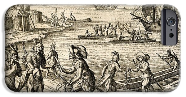 Buy Goods iPhone Cases - Europeans Trading In Newfoundland, 1612 iPhone Case by British Library