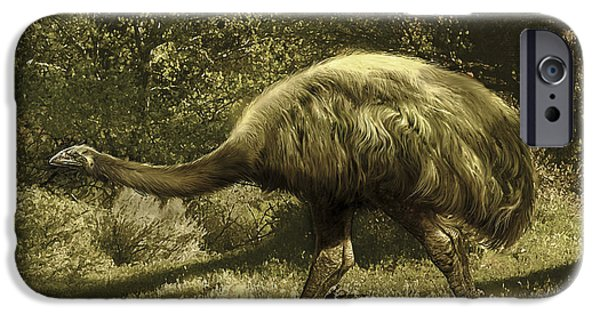 Moa iPhone Cases - Euryapteryx Flightless Bird From New iPhone Case by Jan Sovak