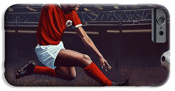 Sportsman iPhone Cases - Eusebio iPhone Case by Paul Meijering