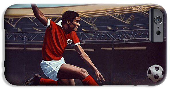 Fame iPhone Cases - Eusebio iPhone Case by Paul Meijering