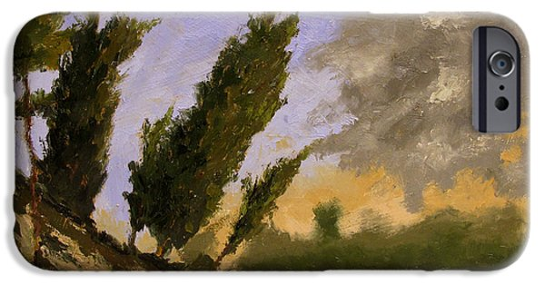 Change Paintings iPhone Cases - Eutrophic Erosion iPhone Case by Charlie Spear