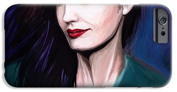 Eva iPhone Cases - Eva Green iPhone Case by Dori Hartley