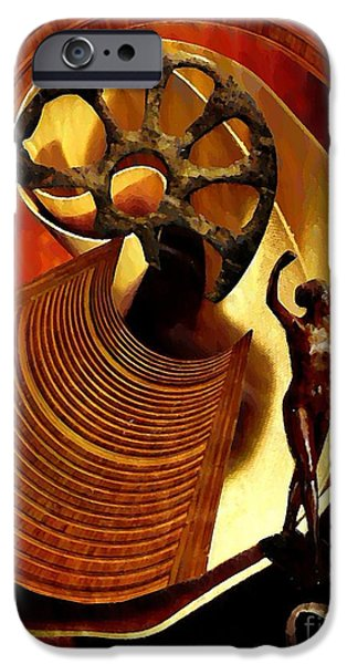 Serpent Mixed Media iPhone Cases - Eve Balanced on a Tightrope iPhone Case by Sarah Loft