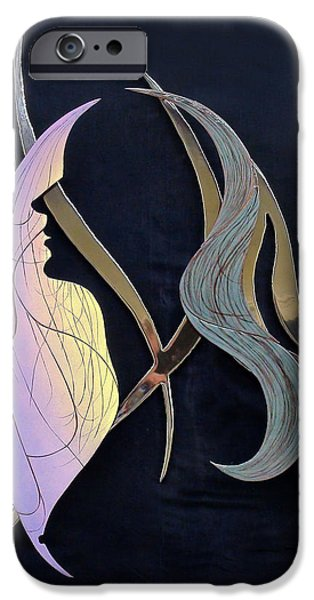 Contemporary Abstract Glass Art iPhone Cases - Eve iPhone Case by Dan Redmon
