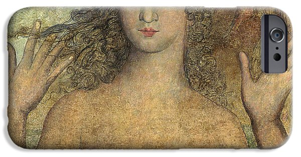 William Blake iPhone Cases - Eve Naming The Birds iPhone Case by William Blake