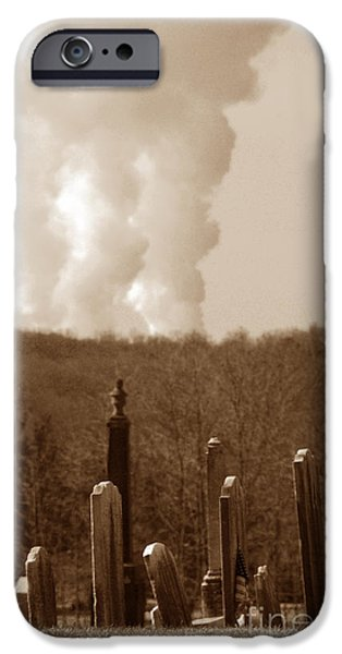 Cemetary iPhone Cases - Eve of Destruction iPhone Case by Cindy Manero