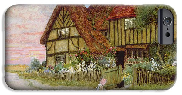 Charming Cottage iPhone Cases - Evening iPhone Case by Arthur Claude Strachan