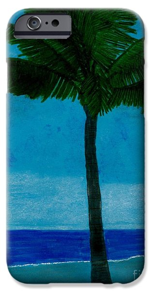 North Sea Drawings iPhone Cases - Evening At The Beach iPhone Case by D Hackett