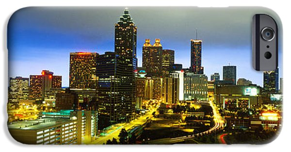 Ga iPhone Cases - Evening Atlanta Ga iPhone Case by Panoramic Images