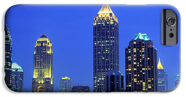 Ga iPhone Cases - Evening, Atlanta, Georgia, Usa iPhone Case by Panoramic Images