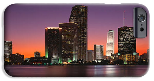 Pastel iPhone Cases - Evening Biscayne Bay Miami Fl iPhone Case by Panoramic Images