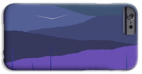 Soft Colour iPhone Cases - Evening Blue Moonshine iPhone Case by Val Arie