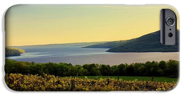 Canandaigua Lake iPhone Cases - Evening Falls iPhone Case by Glenn Curtis