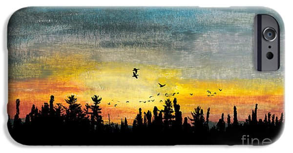 Autumn Scenes Pastels iPhone Cases - Evening Freedom iPhone Case by R Kyllo