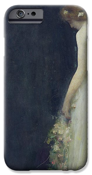 Sadness Paintings iPhone Cases - Evening iPhone Case by Gabriel-Joseph-Marie-Augustin Ferrier