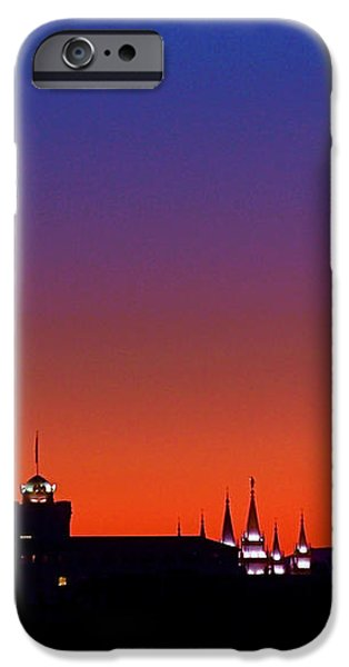 Evening Glow iPhone Case by Rona Black
