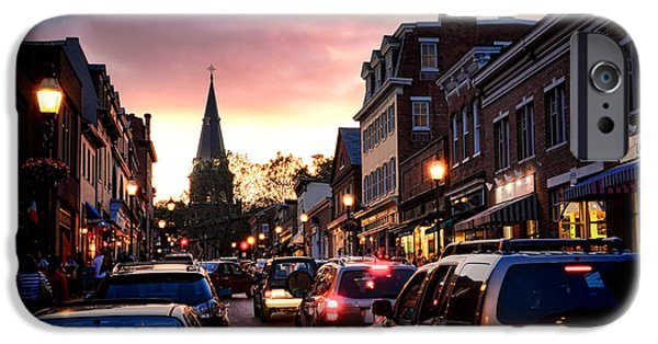 Annapolis Maryland iPhone Cases - Evening in Annapolis iPhone Case by Olivier Le Queinec