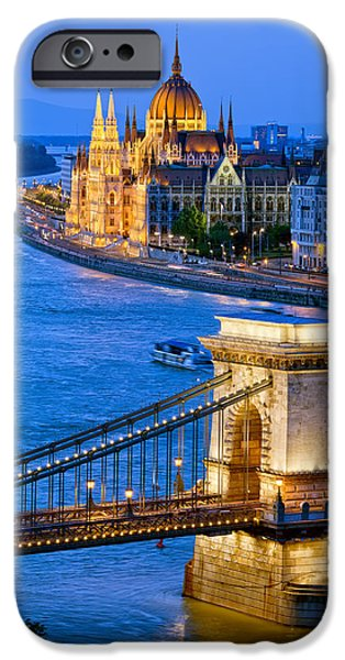 Recently Sold -  - Historic Site iPhone Cases - Evening in Budapest iPhone Case by Artur Bogacki