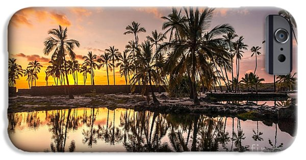 Big Island iPhone Cases - Evening in Paradise iPhone Case by Mike Reid