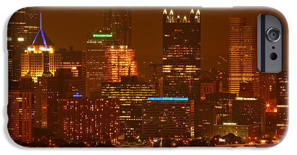 City Scape iPhone Cases - Evening In The City Of Champions iPhone Case by Adam Jewell