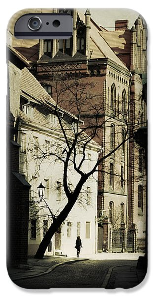 Town iPhone Cases - Evening in Wroclaw iPhone Case by Wojciech Zwolinski
