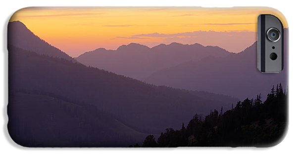 Utah iPhone Cases - Evening Layers iPhone Case by Chad Dutson