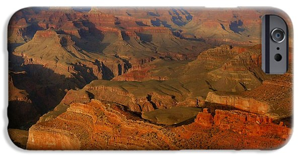 Grand Canyon iPhone Cases - Evening Light From Mather Point iPhone Case by Stephen  Vecchiotti