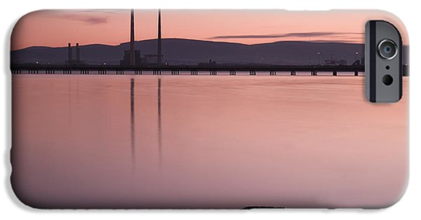 Recently Sold -  - Bay Bridge iPhone Cases - Evening Light on Dublin Bay iPhone Case by Gerard McGrath