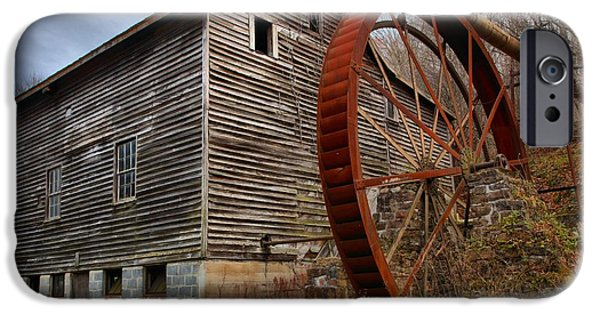 Grist Mill iPhone Cases - Evening Light Over McClungs Mill iPhone Case by Adam Jewell