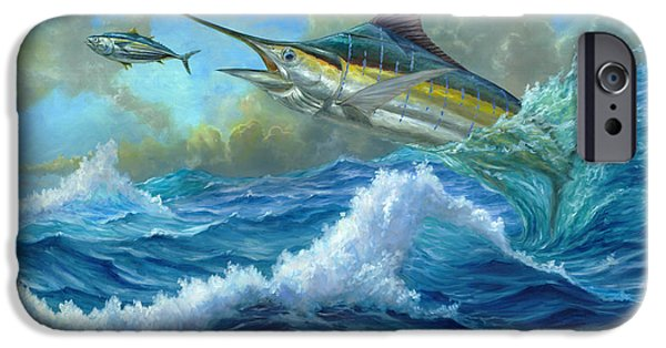 Marlin Azul iPhone Cases - Evening Meal iPhone Case by Terry  Fox