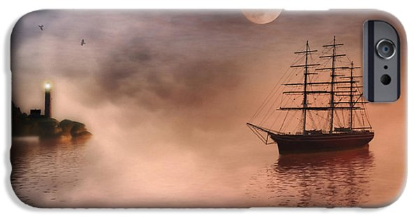 Navigation Digital iPhone Cases - Evening Mists iPhone Case by John Edwards