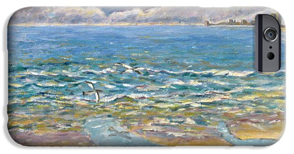 North Sea Paintings iPhone Cases - Evening North Myrtle Beach iPhone Case by Patricia Eyre