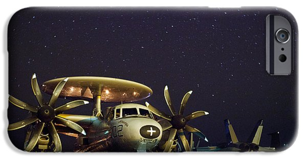 Jet Star iPhone Cases - Evening on the Carrier iPhone Case by Mountain Dreams