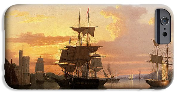 Recently Sold -  - Sailboat iPhone Cases - Evening on the River Lee Below Blackrock Castle iPhone Case by GMW Atkinson
