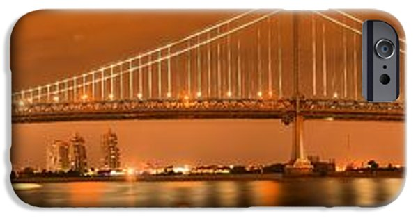 Franklin iPhone Cases - Evening Reflections Of The Ben Franklin Bridge iPhone Case by Adam Jewell