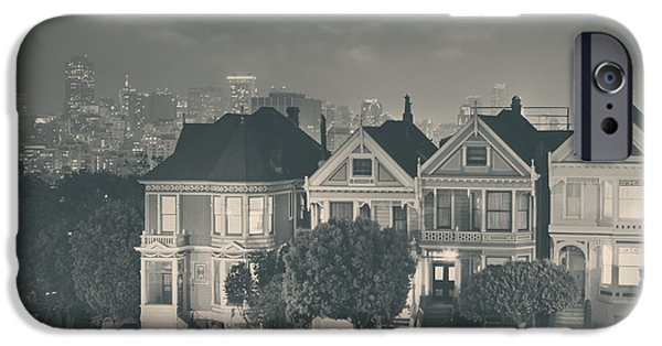 San Francisco Street iPhone Cases - Evening Rendezvous iPhone Case by Laurie Search