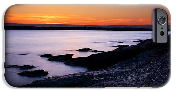 New England Landscape iPhone Cases - Evening Repose iPhone Case by Lourry Legarde