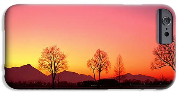 Mountain iPhone Cases - Evening, Schwangau, Germany iPhone Case by Panoramic Images