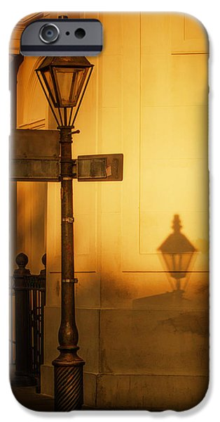 Brenda Bryant iPhone Cases - Evening Shadow in Jackson Square iPhone Case by Brenda Bryant
