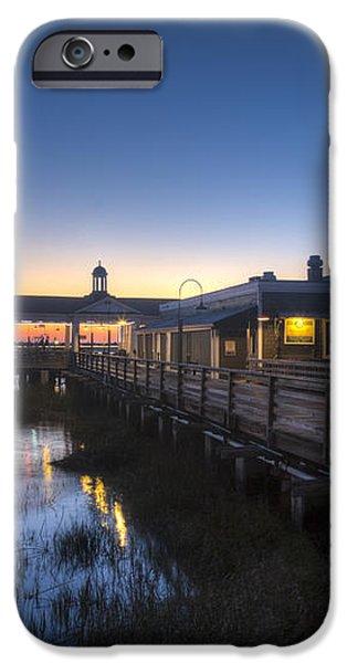 Evening Sky at the Dock iPhone Case by Debra and Dave Vanderlaan