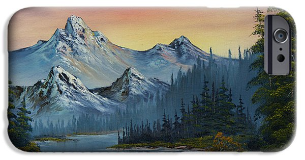 Best Sellers -  - Bob Ross Paintings iPhone Cases - Evening Splendor iPhone Case by C Steele