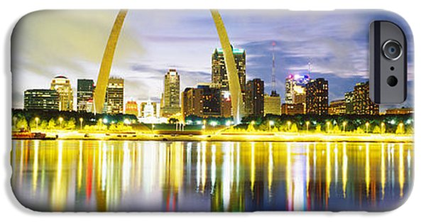 Stainless Steel iPhone Cases - Evening, St Louis, Missouri, Usa iPhone Case by Panoramic Images