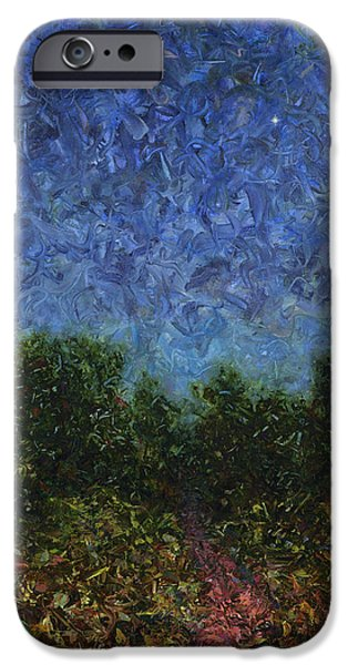 Impasto iPhone Cases - Evening Star iPhone Case by James W Johnson