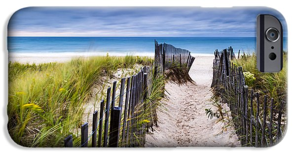 York Beach iPhone Cases - Flying Point Beach Vista iPhone Case by Ryan Moore