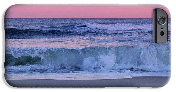 Jersey Shore iPhone Cases - Evening Waves - Jersey Shore iPhone Case by Angie Tirado