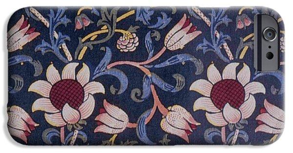 Wallpaper Tapestries - Textiles iPhone Cases - Evenlode Design iPhone Case by William Morris
