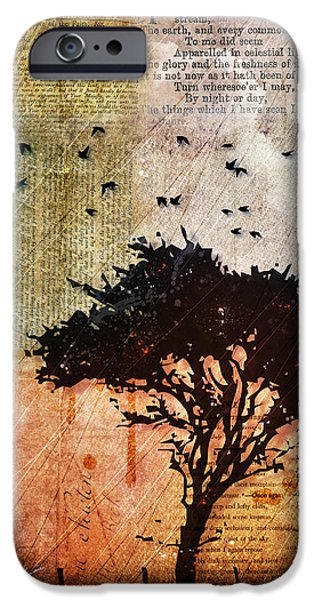 Tree Print Digital iPhone Cases - Eventide iPhone Case by Gary Bodnar