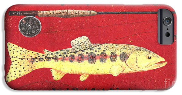 Golden Trout iPhone Cases - Ever Had One of Those Days? iPhone Case by Carolyn Kollegger