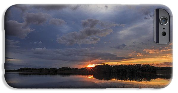 Everglades iPhone Cases - Everglades Dawn iPhone Case by Mike Lang