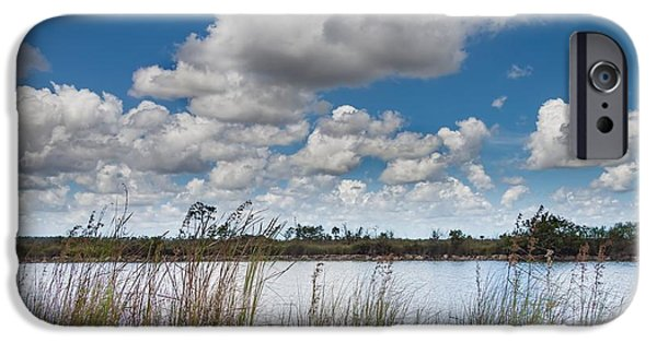 Mangrove Forest iPhone Cases - Everglades Lake 6853 iPhone Case by Rudy Umans